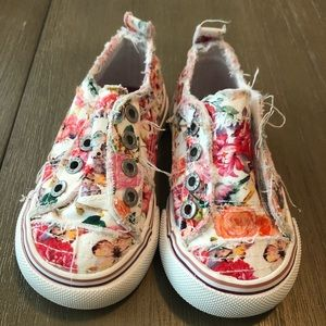 Blowfish floral toddler shoes